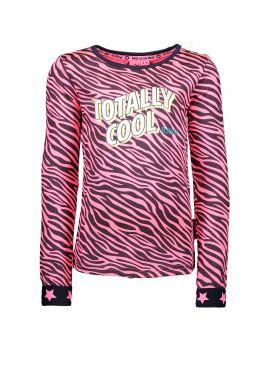 B Nosy Shirt pink zebra