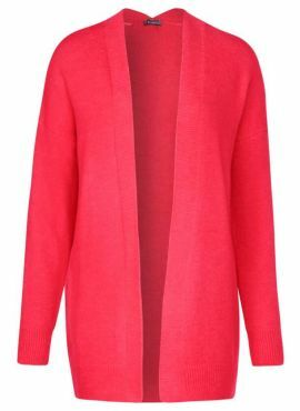 Street One Cosy Cardigan neon coral