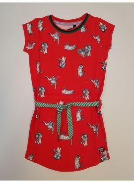 Quapi Dress Aafje red animal
