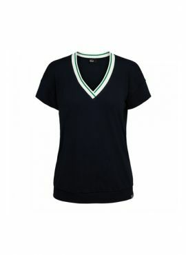 &Co Lucie Top Rib navy/green