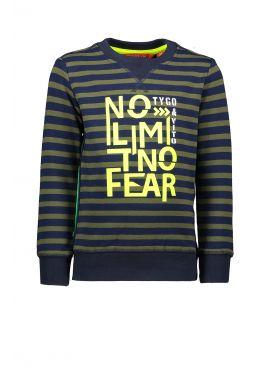 T&v sweater stripe NO LIMIT NO FEAR