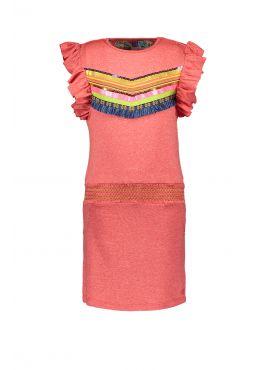 Kidz Art Dress Ruffle neon orange
