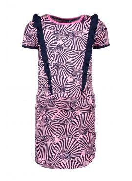 B.Nosy Dress + Ruffle top part pink