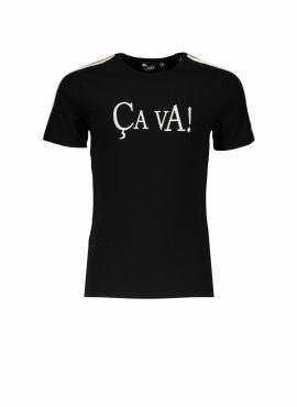 NoBell T-Shirt Kanoux jet black stripes