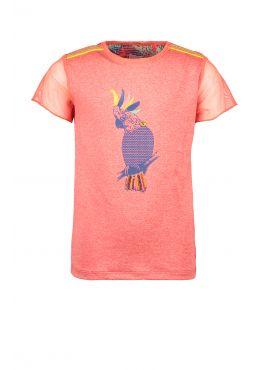 Kidz Art T-Shirt Jersey Melange Parrot neon orange