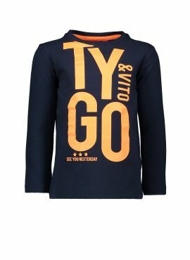 T&v t-shirt LS navy