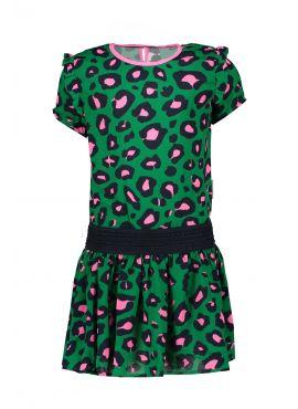 B.Nosy Dress jade leopard