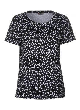 Street One Shirt Dot black