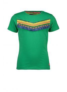 Kidz Art T-Shirt Stripe Artwork green