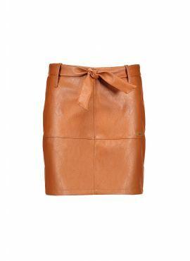 NoBell Skirt leather cognac