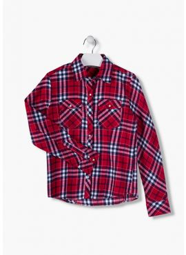 Losan Blouse red check
