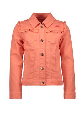 Kidz Art Woven Jacket ruffles neon orange