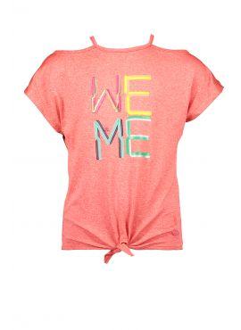 Kidz Art T-Shirt Knotted We Me neon orange