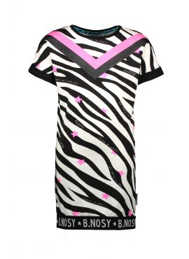 B.Nosy Sweat Dress aop zebra