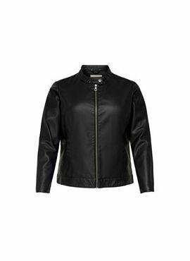 Carmakoma Faux Leather Jacket Robber black