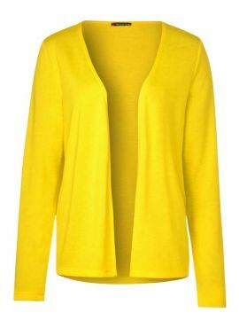 Street One Cardigan Nette shiny yellow