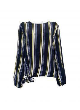 Elvira Blouse Kiki yellow stripe