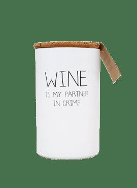 My Flame kaars wine is my partner in crime