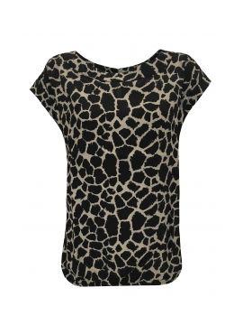 Elvira Top Mimi grey giraffe