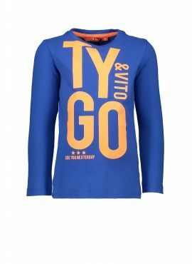 T&v t-shirt LS blue