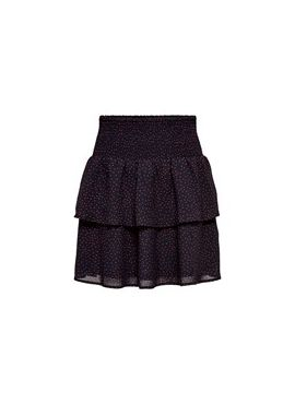 Only Layered Short Skirt blue AOP