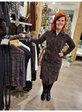 Daelin blousejurk Brandy leopard