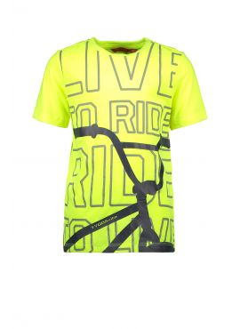 T&v t-shirt BMX safety yellow