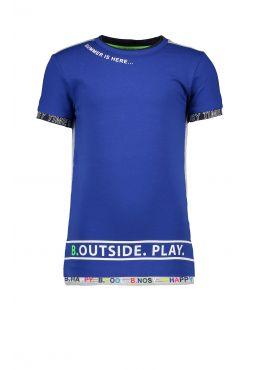 B.Nosy Shirt + Print cobalt blue