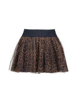 B.Nosy Mesh Skirt Leopard