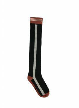 NoBell Long Socks jet black stripe